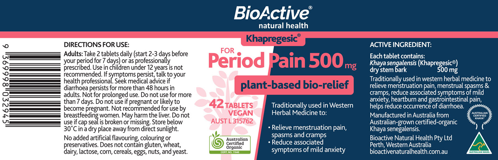 Khapregesic® for Period Pain 500mg